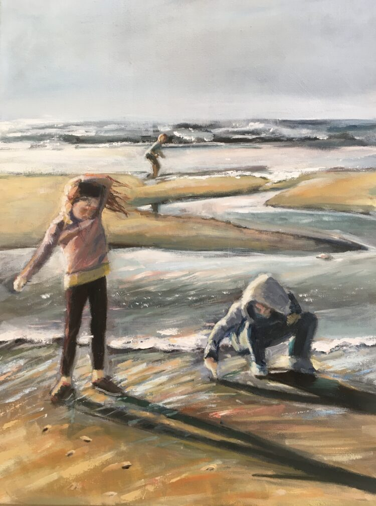 The Hill Children by Ayse McGowan, Oil on canvas