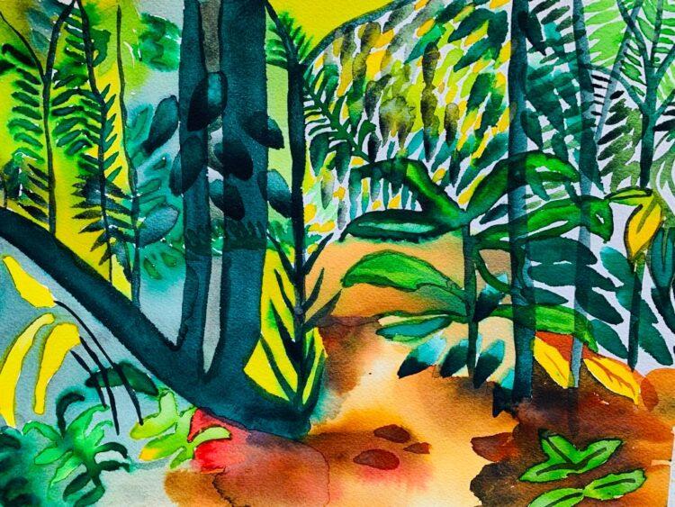 Tortuguero Jungle by Alice Gavin Atashkar, Watercolour on paper