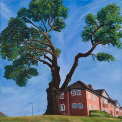 Tree on Hammers Lane by Diana Sandetskaya, Oil on canvas