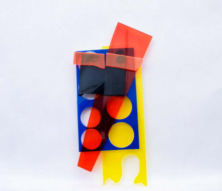 Untitled II by Celestine Thomas, Coloured perspex and glue