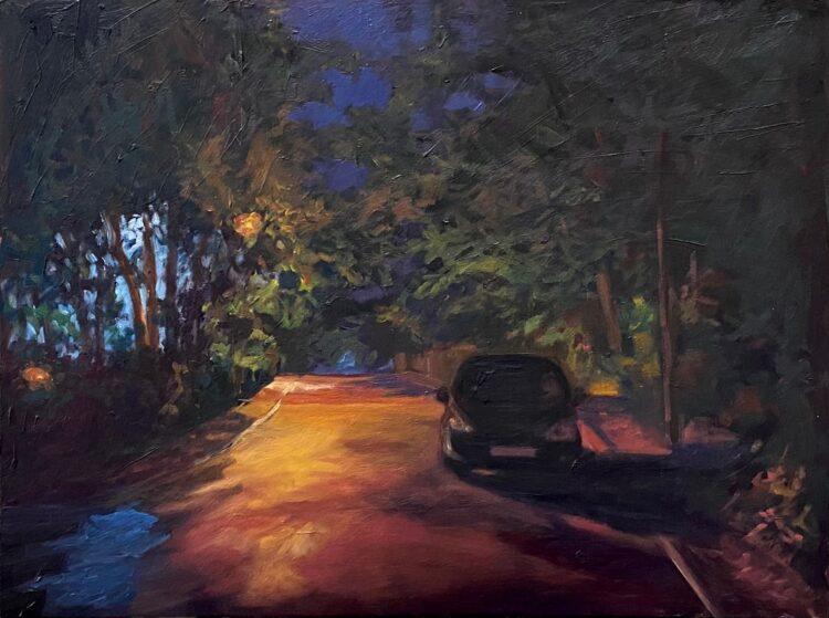 Wills Grove III by Diana Sandetskaya, Oil on cradled gesso board