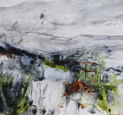 Imminent Winter by Karin Friedli, Mixed media on paper