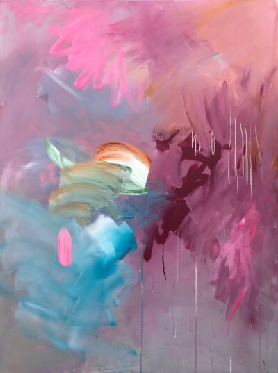 The Journey in Thought by Joanna Gilbert, Mixed media on canvas