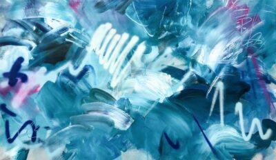 Urban Concrete Ocean by Joanna Gilbert, Spray paint and acrylic on canvas