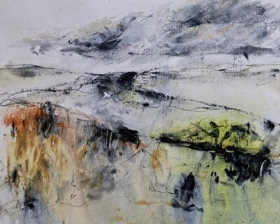 Approaching Storm by Karin Friedli, Mixed media on paper