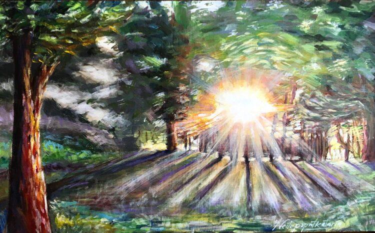 Sun Glow by Neeta Popat Kataria, Acrylic on Gesso Panel