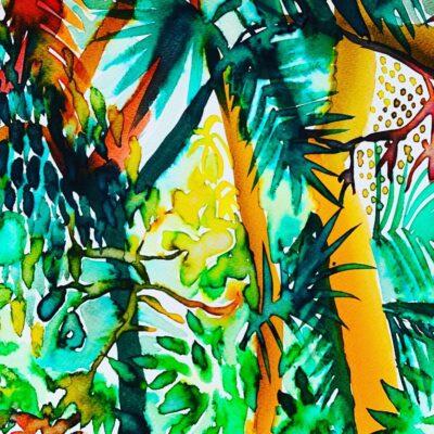Cahuita National Park Study by Alice Gavin Atashkar, Watercolour on paper