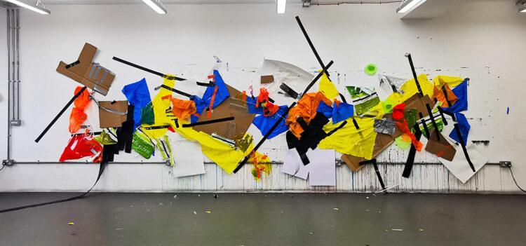 Untitled 1 by Celestine Thomas, Mix Media on Studio Wall