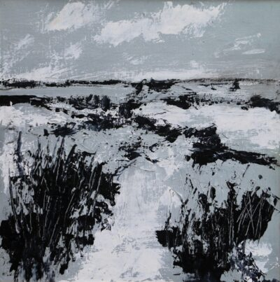 Winter morning by Karin Friedli, Acrylic on canvas board