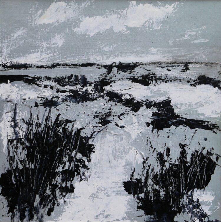 Winter morning by Karin Friedli, Acrylic on canvas board
