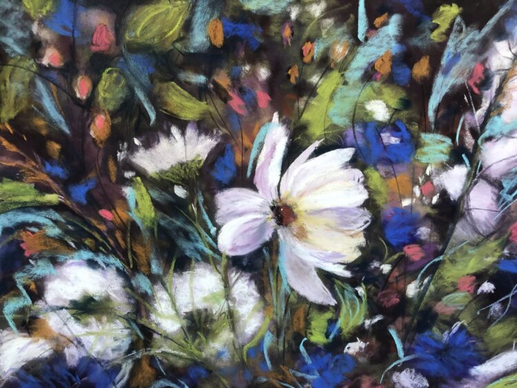 Floral Fantasy  by Dawn Limbert, Pastel on paper