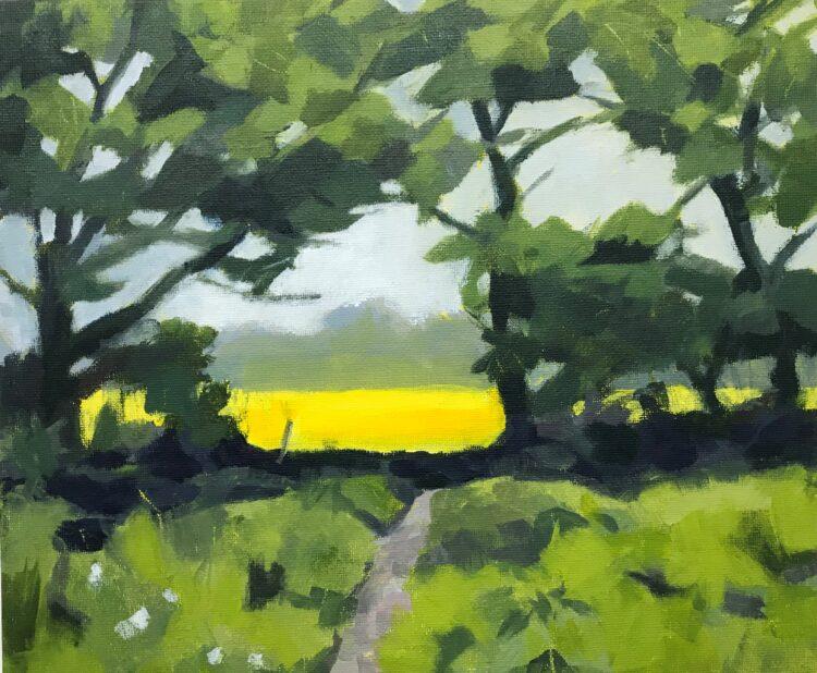 The Rape Field by Margaret Crutchley, Acrylic