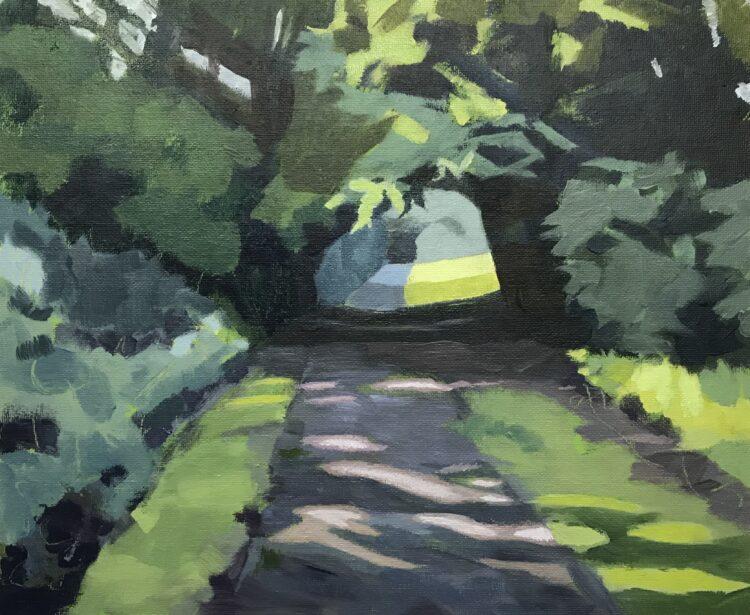 Dappled Light by Margaret Crutchley, Acrylic