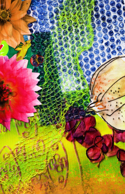 Pink Dahlia Joy Pop by Alice Gavin Atashkar, Mixed media