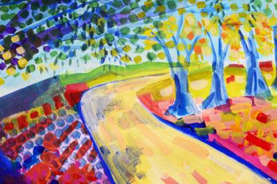 School drop by Alice Gavin Atashkar, Mixed media