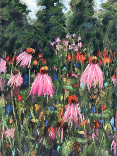 Floral Heaven by Dawn Limbert, Pastel on paper
