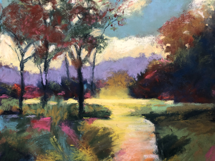 Follow the Path by Dawn Limbert, Pastel on paper