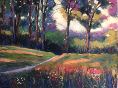 A walk in the Park by Dawn Limbert, Pastel on paper