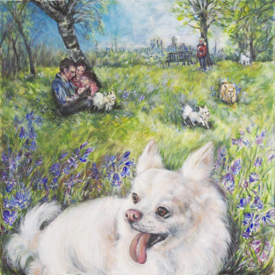 Roly's World by Gianna Lapini, Acrylic on board