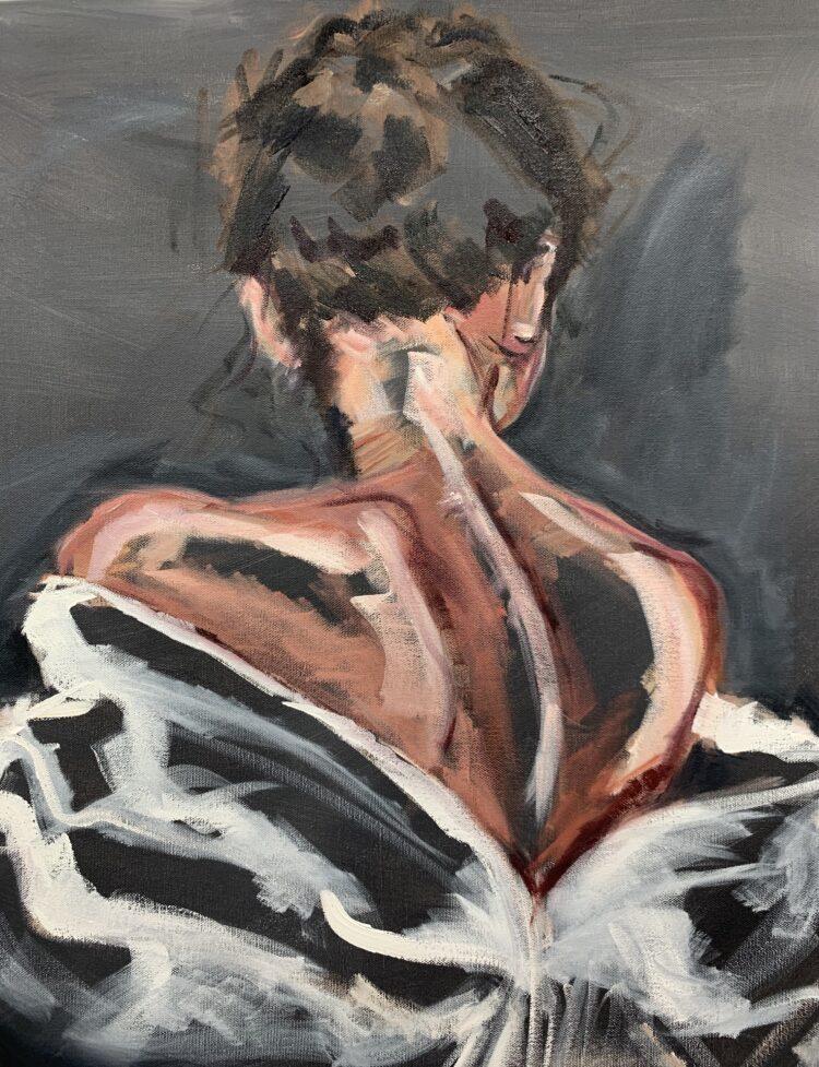 Faraway glances by Elise Mendelle, Oil on canvas