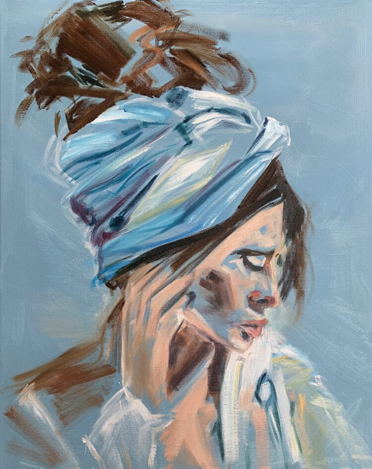 Lost in Admiration by Elise Mendelle, Oil on canvas