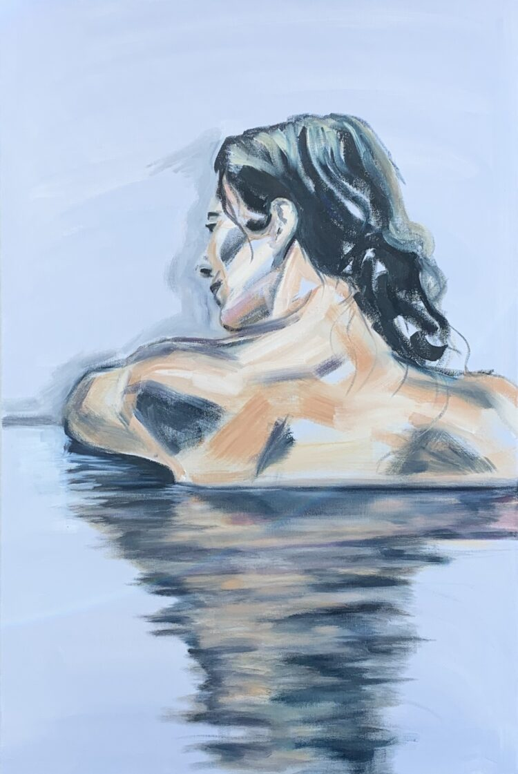 Lost in thought by Elise Mendelle, Oil on canvas