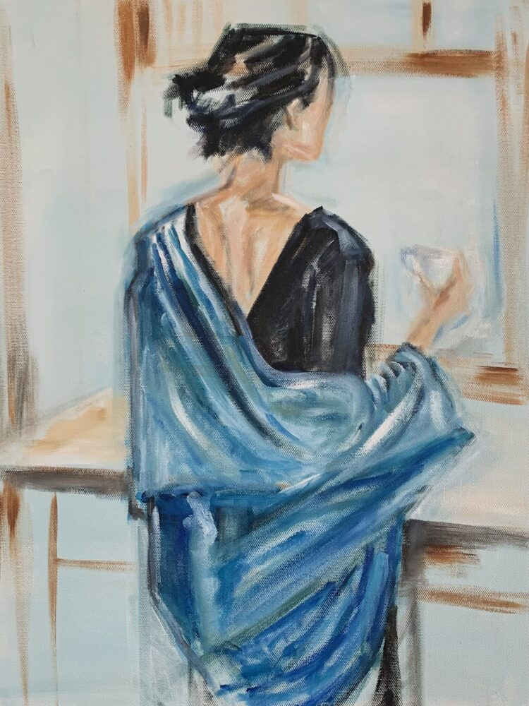 MorningTranquility by Elise Mendelle, Oil on canvas