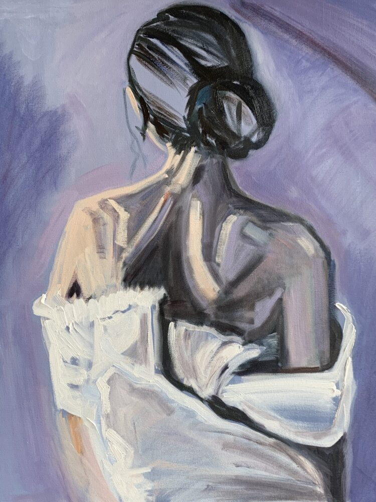 Purple Haze by Elise Mendelle, Oil on canvas