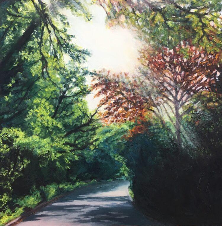 Light on the Ridgeway by Diana Sandetskaya, Oil