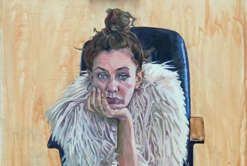 Sara Gregory 'Still Waiting' Oil on Canvas