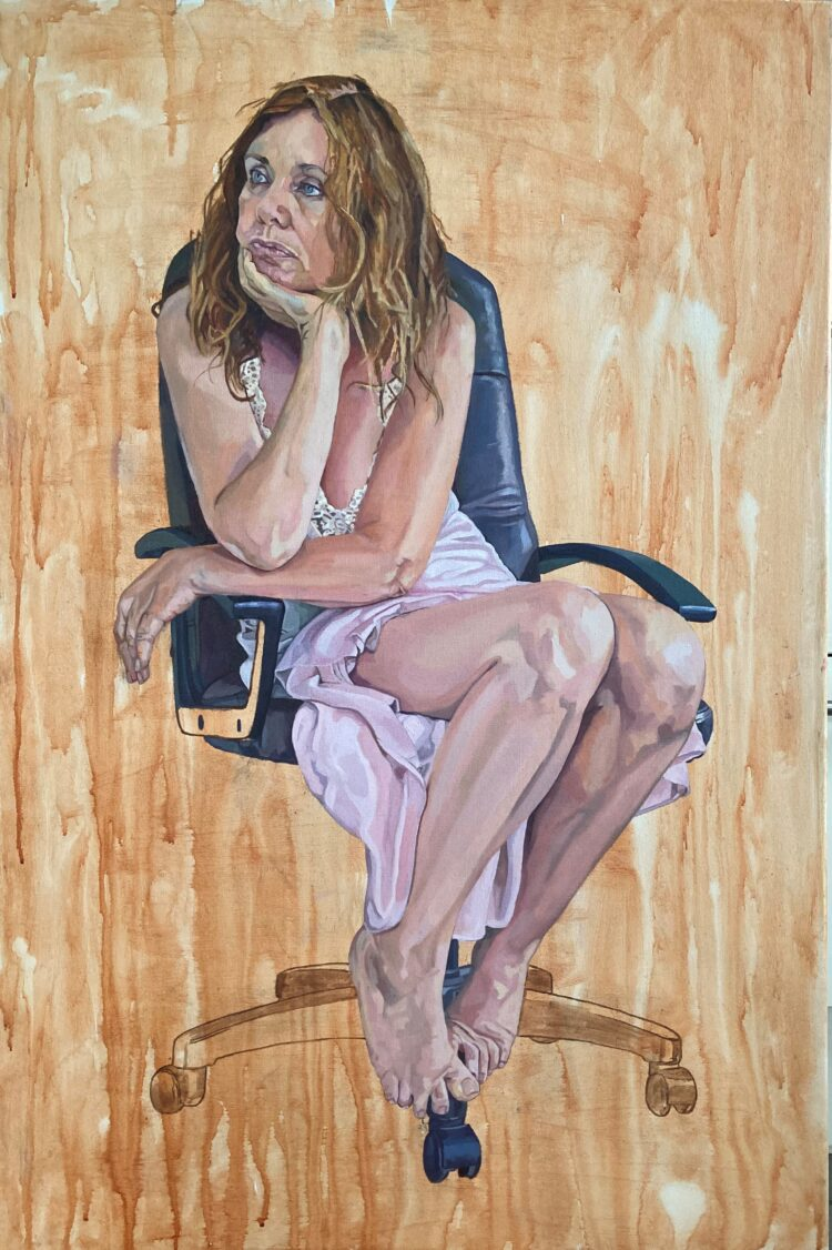 Tired of Waiting by Sara Gregory, Oil on Canvas