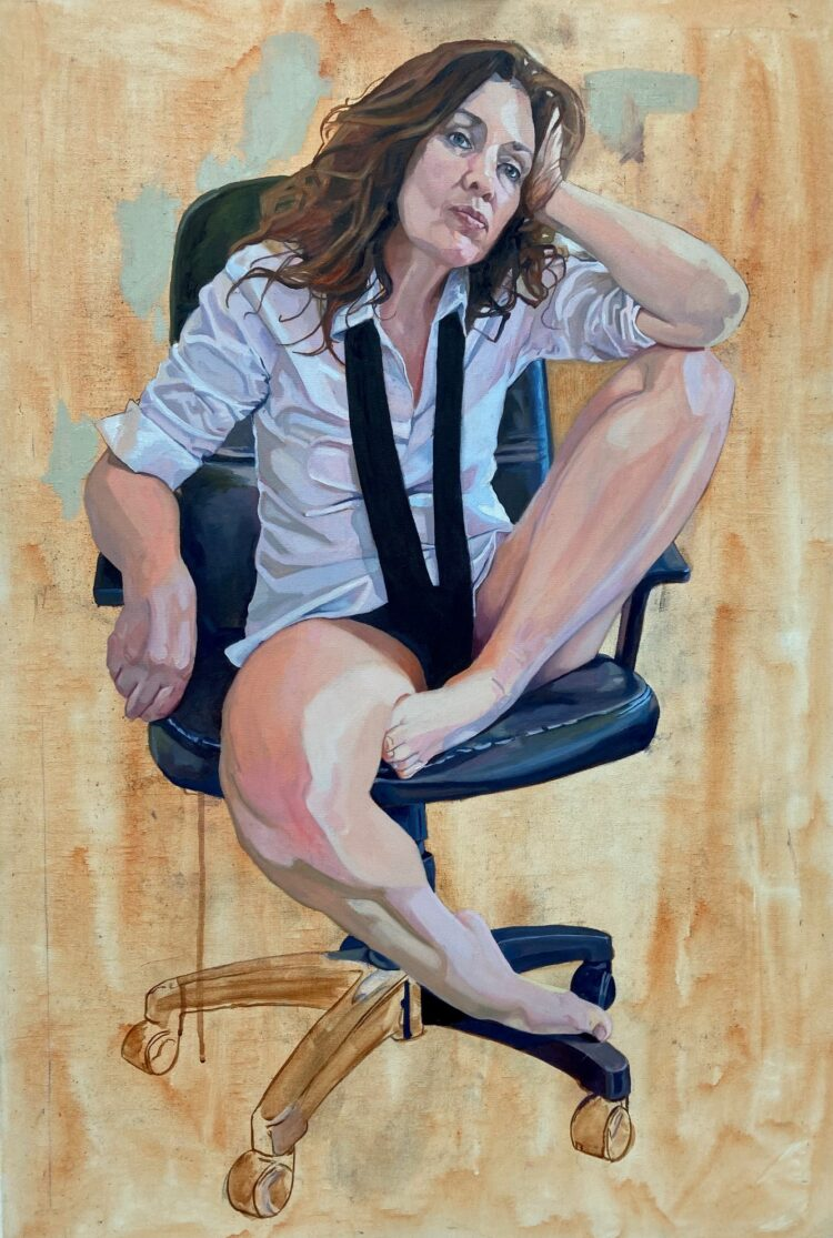 Waiting by Sara Gregory, Oil on Canvas