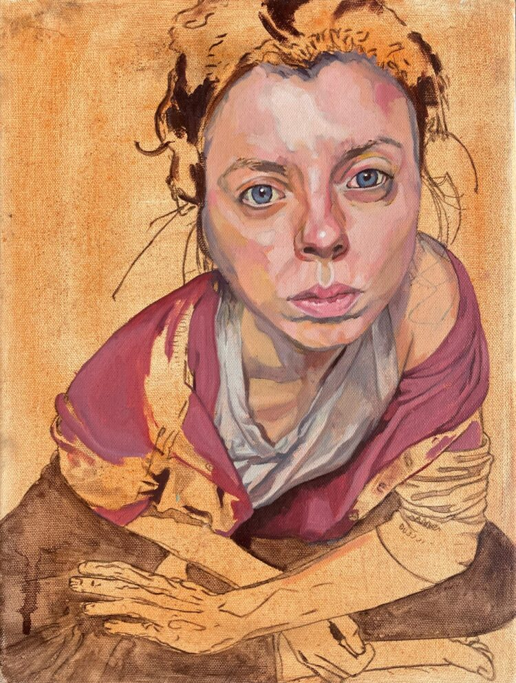Isolation Portrait by Sara Gregory, Oil on Canvas